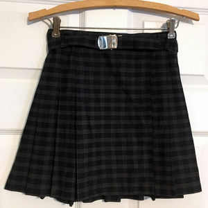 4/$10 💙 VINTAGE NWOT plaid navy pleated miniskirt